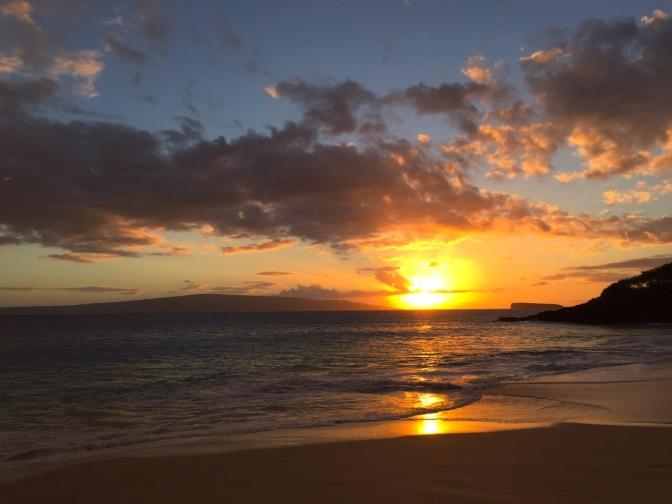 マケナビーチでサンセット