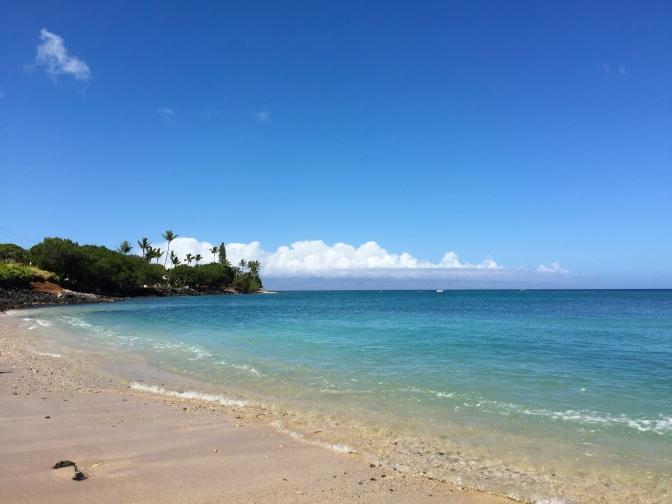 カハナの人がほとんどいないビーチ(でも海水浴場って感じではないよ)